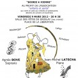 Concert à Saint Eustache vendredi 21 Janvier 2011 à 20H30 Salle de répétition des chanteurs de saint Eustache – 2,...